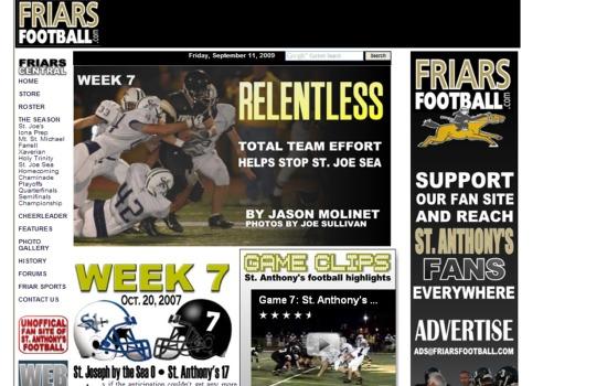 Friars Football Week 7 2007