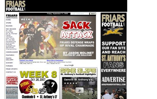 Friars Football Week 8 2007