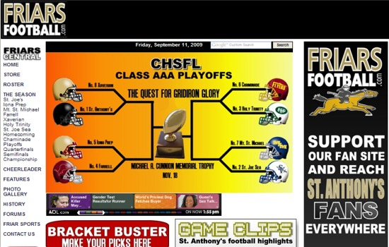 Friars Football Playoff Preview 2007