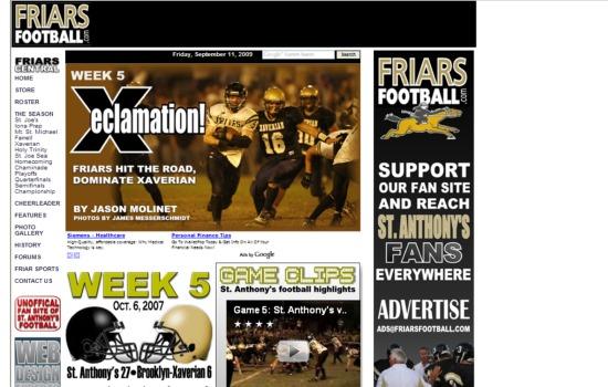 Friars Football Week 5 2007
