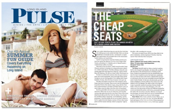 LI Pulse magazine June 2009 Minor League Baseball
