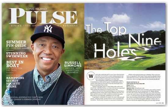 Long Island Pulse magazine Top Golf Holes June 2010 issue.