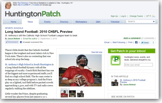 Patch: 2010 CHSFL Preview